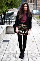 H&M t-shirt - H&M jacket - Zara bag - Parfois heels - Zara skirt