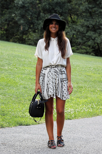 H&M shirt - Zara skirt