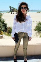 Zara pants - pull&bear shirt - Dayaday bag - asos sunglasses - Parfois heels