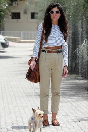 Zara t-shirt - H&M pants - Topshop flats