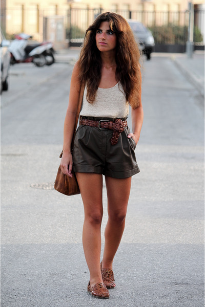 Urban Outfitters bag - Sfera shorts - Topshop flats - H&M top