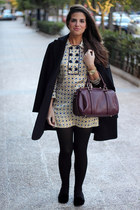 Urban Outfitters bag - Massimo Dutti dress - Mango coat