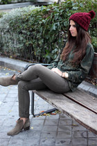 Zara hat - Mango boots - Zara shirt - pull&bear pants