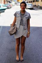 Zara bag - Zara t-shirt - Zara vest - H&M skirt - Springfield flats