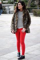 BLANCO coat - Massimo Dutti t-shirt - Zara pants - Massimo Dutti flats