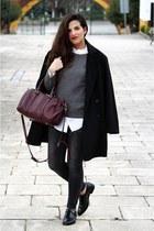 pull&bear jeans - Mango coat - Zara sweater - pull&bear shirt