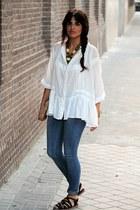 Zara shirt - Primark jeans - Topshop sandals