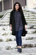 Zara jeans - Ralph Lauren shirt - Zara cardigan - Massimo Dutti flats