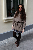 Zara sunglasses - pull&bear shirt - Topshop loafers - Zara jumper