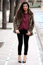 BLANCO coat - H&M t-shirt - Primark pants - Zara heels