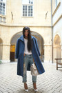 navy oversized coat Wonderound coat