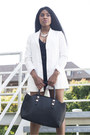 White-classy-sheinsidecom-blazer-black-faux-leather-yooxcom-bag
