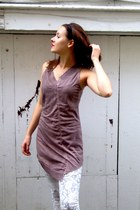 pink The Dress Shop top - heather gray The Dress Shop leggings