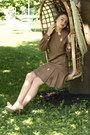 Light-brown-wallflower-vintage-dress