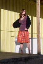 black 1960s velvet Wallflower Vintage jacket - amethyst The Dress Shop top