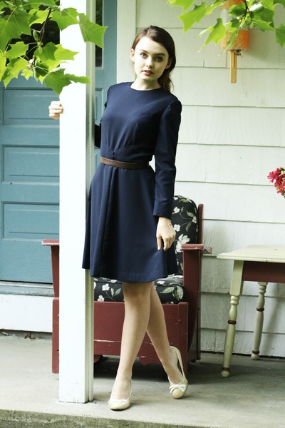 blue 1960s wool Wallflower Vintage dress