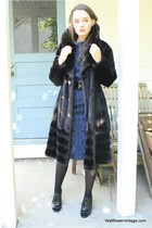 black Wallflower Vintage coat - blue Wallflower Vintage dress
