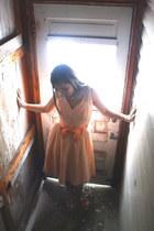 peach 1960s chiffon Wallflower Vintage dress