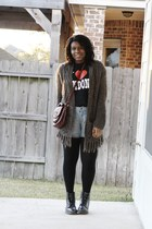 checkered doc martens boots - wool Saks Fith Avenue sweater - I love London shir