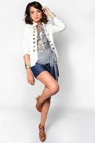 white warehouse503 jacket - blue warehouse503 shirt - brown warehouse503 shoes -