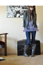 Silence  Noise jacket - Levis Silver Tab jeans - Target boots - sunglasses - shi