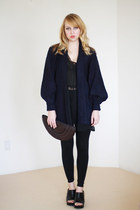 navy slouchy vintage sweater