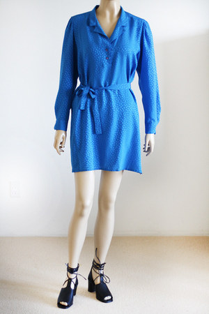 blue Vintage from We Move Vintage dress