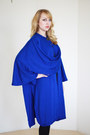 Blue-draped-knit-vintage-cape