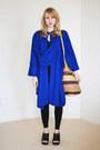 Blue-draped-knit-vintage-cape