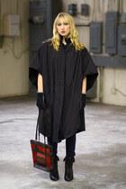 black Vintage by We Move Vintage coat - brick red vintage bag - black Forever 21
