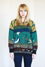 Teal-vintage-sweater
