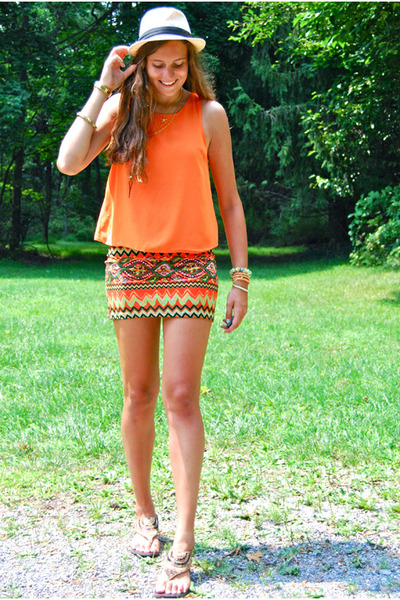 orange Kharisma skirt - light orange LoveKhloe bracelet