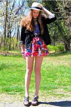 bubble gum Forever 21 skirt - neutral Street Vendor hat - black mens Gap jacket