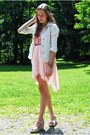 Cream-macys-blazer-ivory-my-hot-shoes-wedges-pink-romwe-top