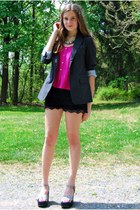 black OASAP shorts - charcoal gray American Eagle blazer