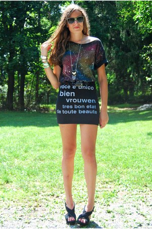 black Urban Outfitters skirt - black Urban Outfitters shoes