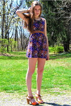amethyst Forever 21 dress - carrot orange Kenneth Cole shoes - bronze Gap belt