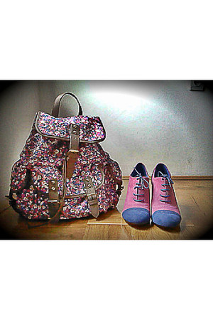 backpack bag - brogues shoes