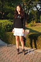 Christian Louboutin boots - Zara skirt