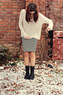 Ebay-boots-h-m-sweater-ann-taylor-skirt-american-eagle-necklace