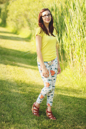 Gap pants - Target t-shirt - Forever 21 wedges