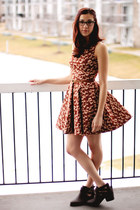 modcloth dress - Macys boots