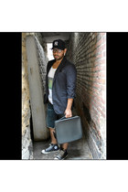 leather Louis Vuitton bag - cotton Diesel jeans - cotton Prada blazer