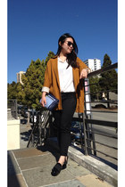 stuart weitzman heels - Zara blazer - coach bag - Cheap Monday sunglasses