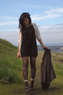 Seychelles-boots-mac-jac-dress-vintage-blazer