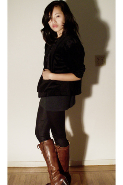 Hand It Over jacket - Ebay tights - Frye shoes