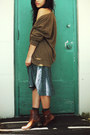 Ralph-lauren-boots-urban-outfitters-top-skirt