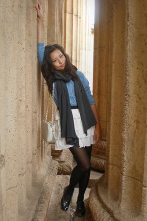 thrifted dress - cutesygirl skirt - Circa shoes