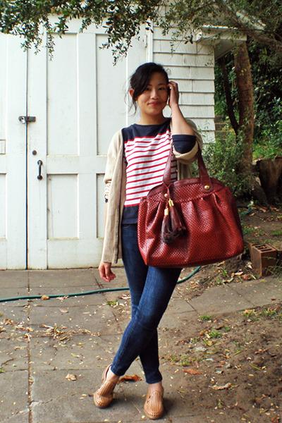NY & Company cardigan - Riekers shoes - modcloth purse