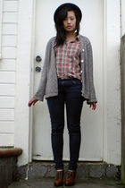 H&M shoes - Forever 21 hat - Appleseed cardigan